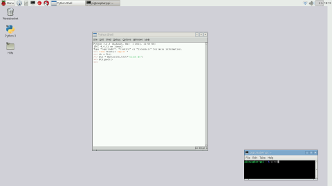 raspberry pi screenshot