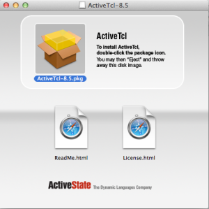 ActiveTcl installation dialog